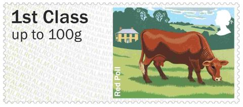 Red Poll stamp