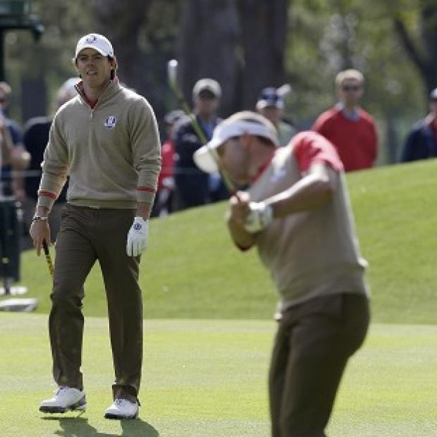 Rory McIlroy, left, would be a big scalp for the US team (AP)