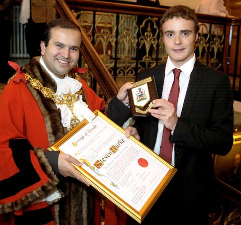 Salisbury Journal: Steven Burke becomes a freeman of Pendle