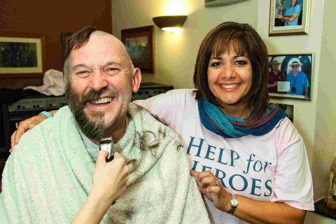 Soldier's father raises £7,000 for Help for Heroes