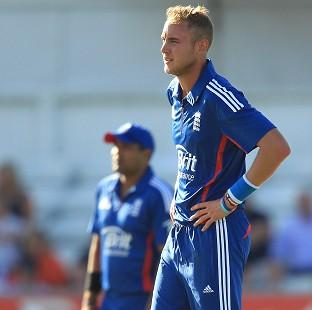 Salisbury Journal: Stuart Broad, right, was the pick of England's bowlers with three wickets