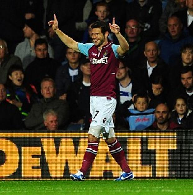Matt Jarvis scored in the third minute for West Ham
