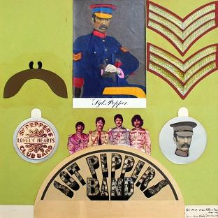 The Sgt Pepper insert collage will be auctioned at Sotheby's (Sir Peter Blake, RA/PA)