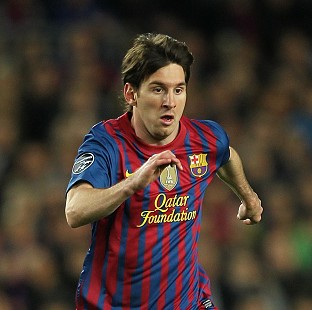 Lionel Messi scored twice at the Nou Camp, including a stunning free-kick