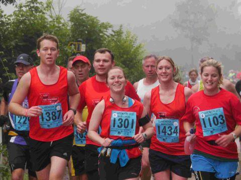Runners take part in Clarendon marathon