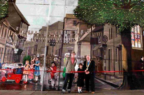 Milford Street mural is officially opened