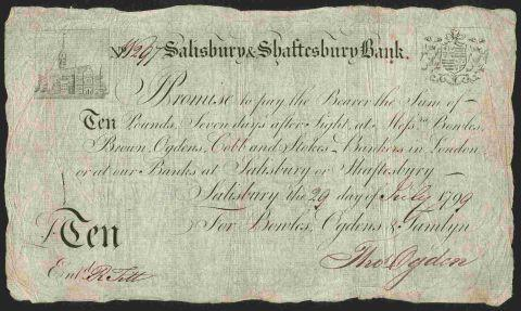 Rare Salisbury bank notes sold at auction