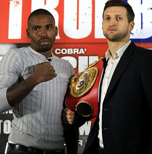 Carl Froch, right, will defend his title against Yusaf Mack next month