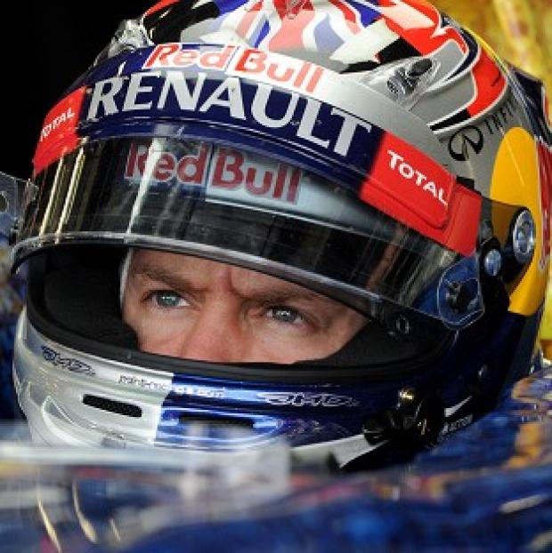 Sebastian Vettel was fastest in second practice in Korea