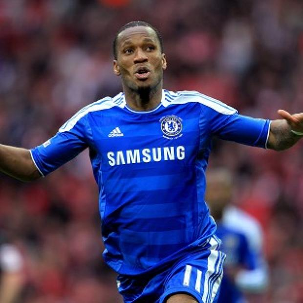 Former Chelsea striker Didier Drogba scored twice before the game was abandoned