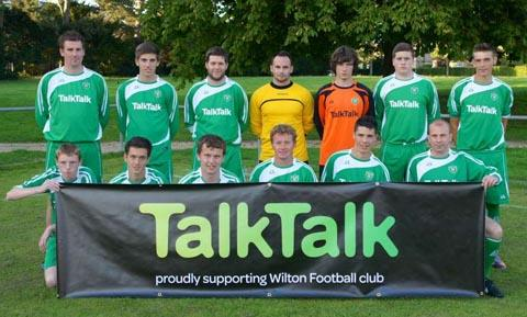 Wilton FC in their new kit.