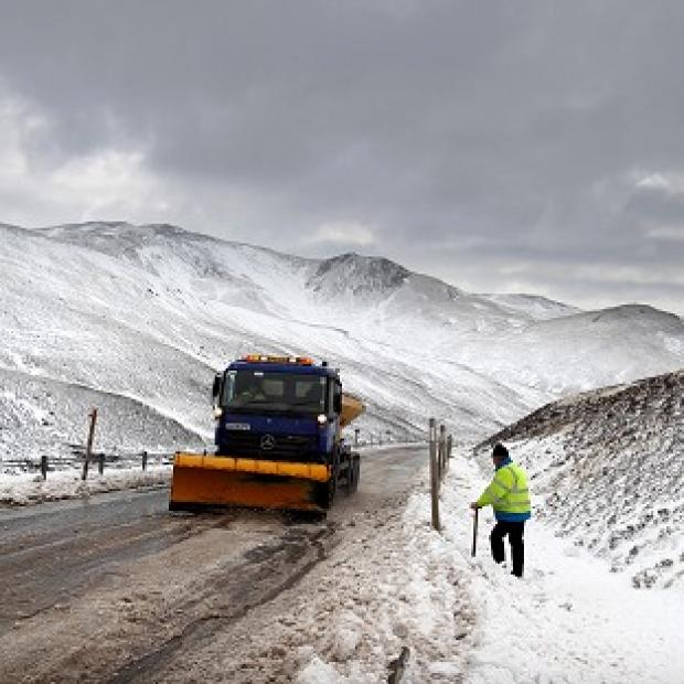 The first cold snap of the season brought wintry showers to Scotland and its first meaningful dump of snow