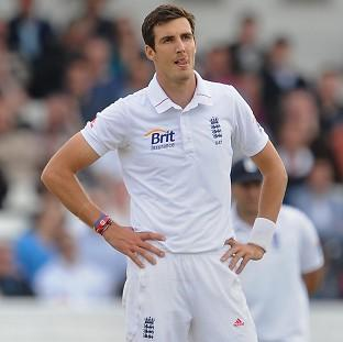 Steven Finn aborted the second over of his second spell due to his injury