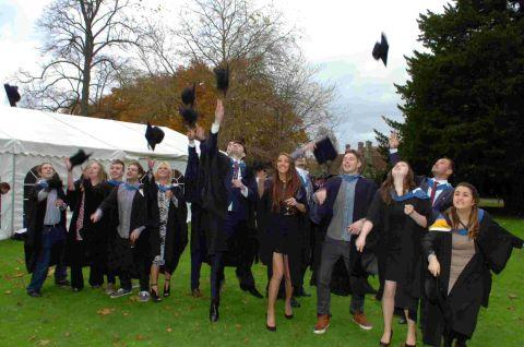 College students celebrate graduation
