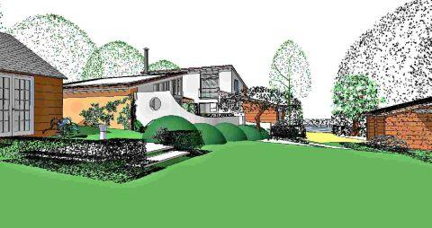 An artist's impression of the planned house