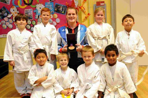 Judo star visits Kiwi School