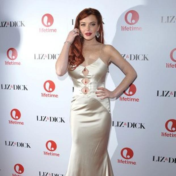 Lindsay Lohan looked glamorous at the premiere of Liz & Dick