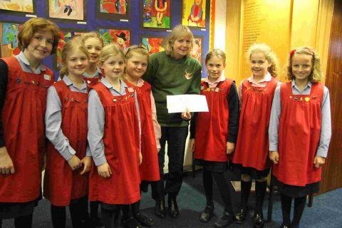 Godolphin girls raise money for hedgehogs