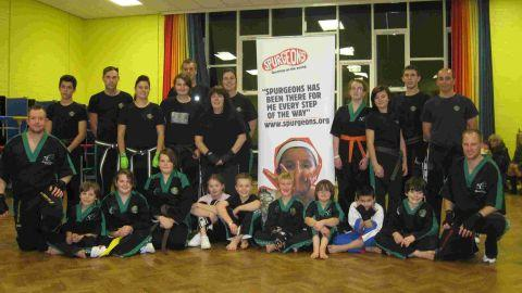 Martial arts session raises funds for children's centre