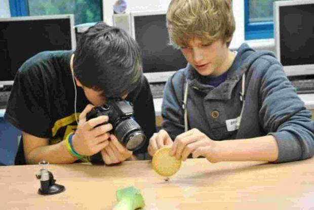 Salisbury Journal: Students try out photography at Burgate's taster day.