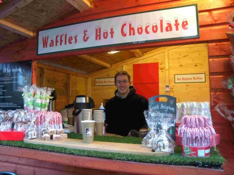 Christmas market opens for business