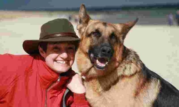 Salisbury Journal: SCGSR founder Alison Mills with one of her beloved dogs.