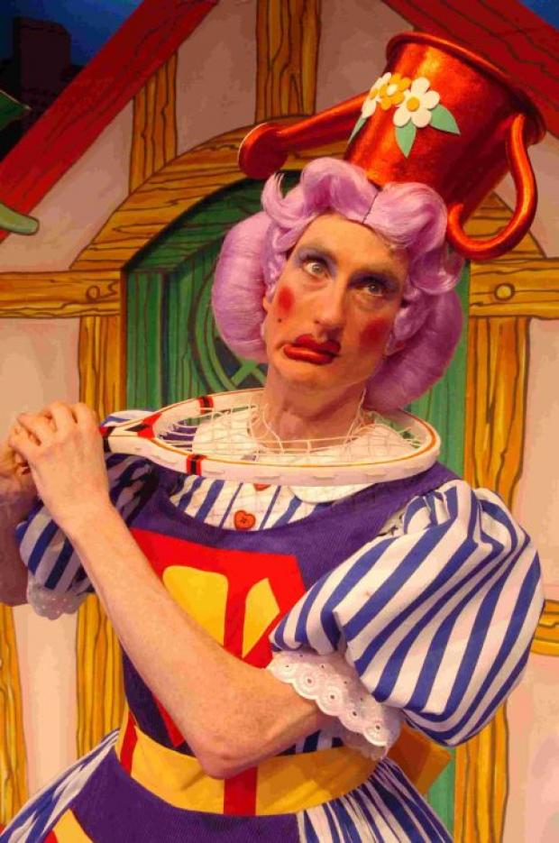 Kieran Buckeridge as Dame Nanny Fanny in Sleeping Beauty