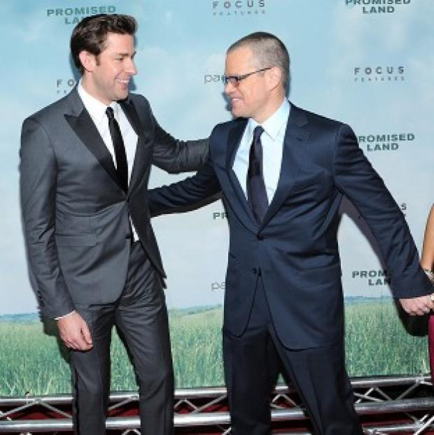 John Krasinski and Matt Damon wrote Promised Land after going on double dates