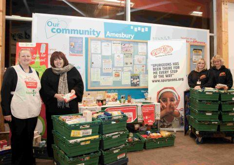 Festive food collection in Amesbury