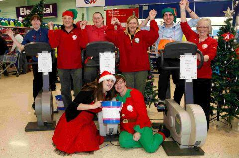 Tesco staff cycle 'to Lapland'