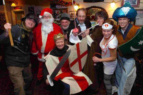 Pub patrons enjoy mummers' plays