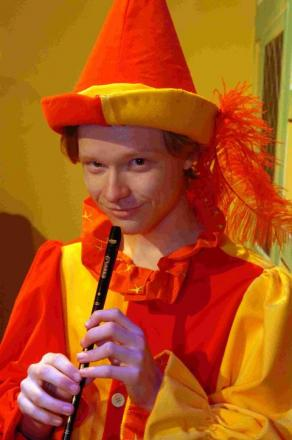 Teddy Woolgrove as the Pied Piper