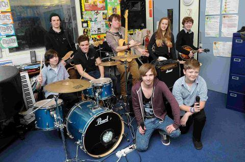 College music students work with Trafalgar pupils