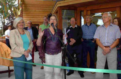Mrs Finn at the opening of the shop