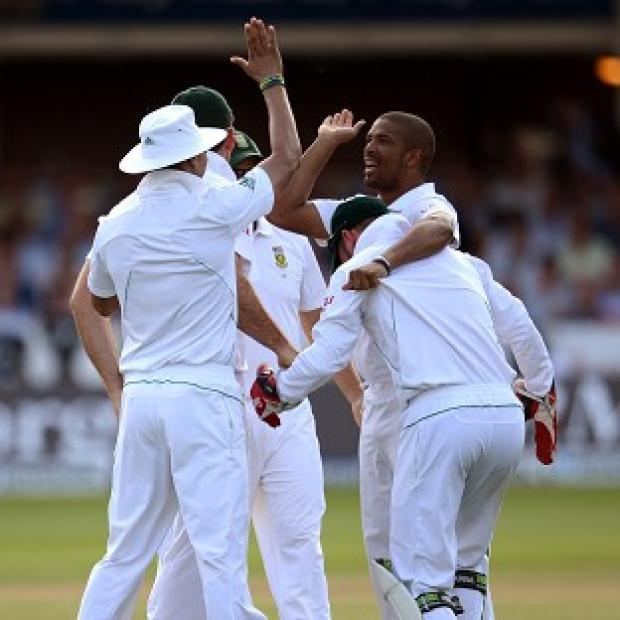 Vernon Philander, right, produced an explosive spell on Wednesday morning