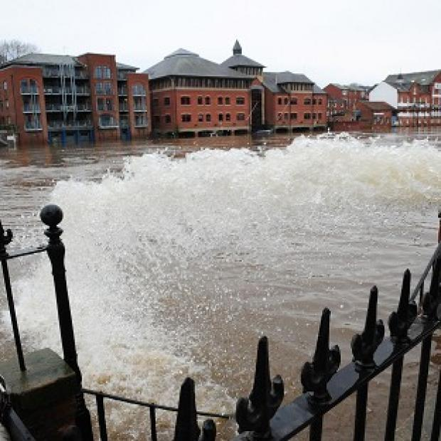 Pumps are being used to help stop water from flooding homes in York city centre