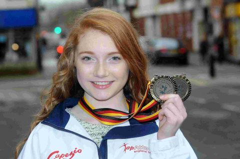 World championship medals for Rosie