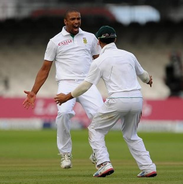 Vernon Philander, left, was named man of the match