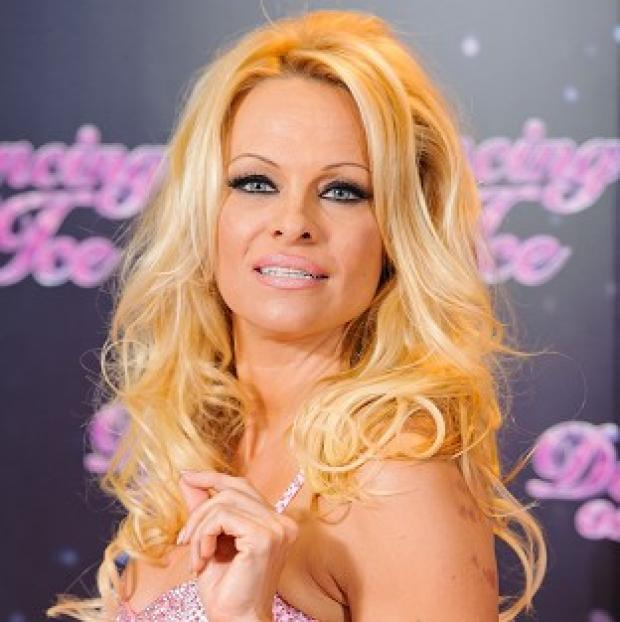 Pamela Anderson was the first celebrity to be voted off Dancing on Ice
