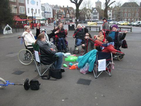Knit-in in city centre