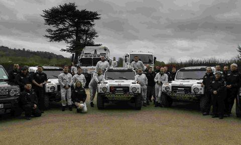 The Race2Recovery team before the start of the event