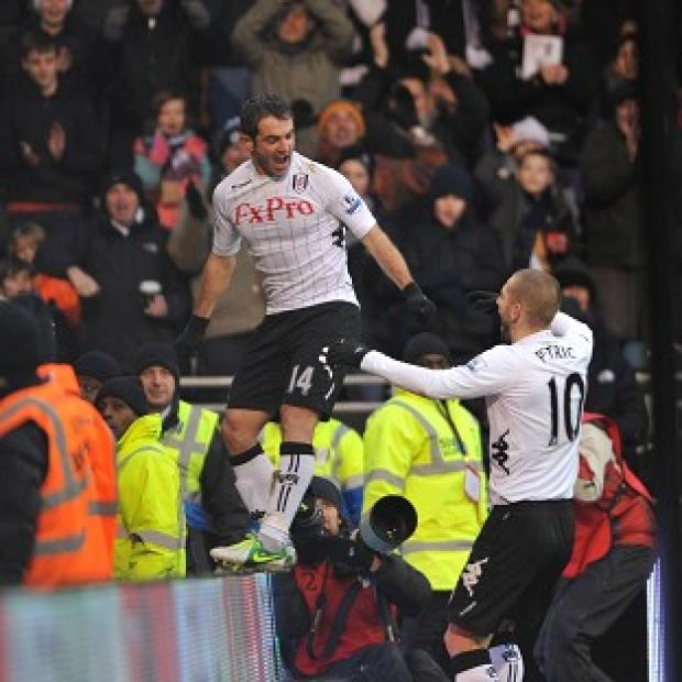 Giorgos Karagounis, left, scored the opener but Fulham were pegged back by Wigan