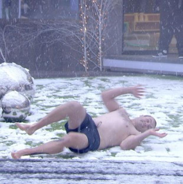 Ryan Moloney was excited to see snow in the Big Brother garden