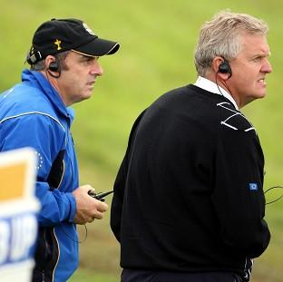 Salisbury Journal: Paul McGinley, left, was vice captain to Colin Montgomerie, right, at the 2010 Ryder Cup