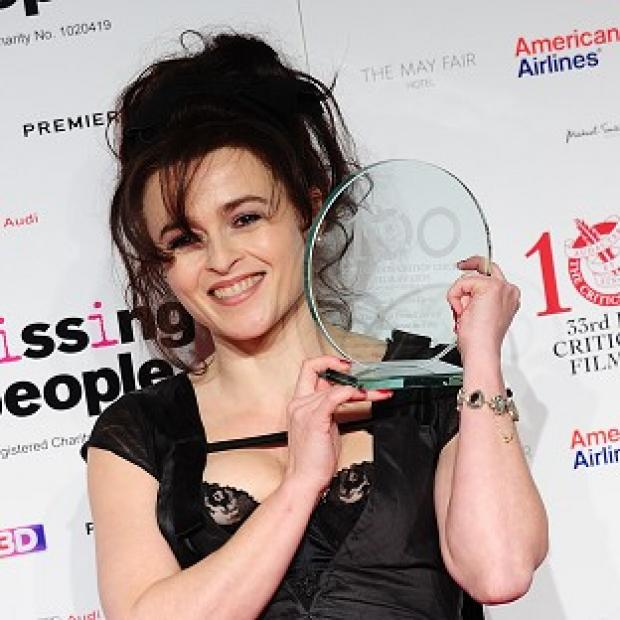 Helena Bonham Carter received the Dilys Powell Award for excellence in film at London's May Fair Hotel