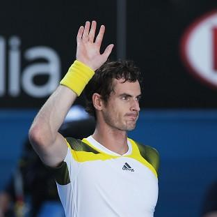 Andy Murray, pictured, acknowledges the crowd following his victory over Jeremy Chardy (AP)