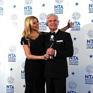 Philip Schofield and Holly Willoughby with the award for Best Factual Programme for This Morning