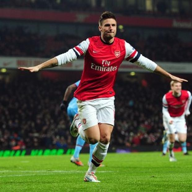 Olivier Giroud bagged a brace for Arsenal