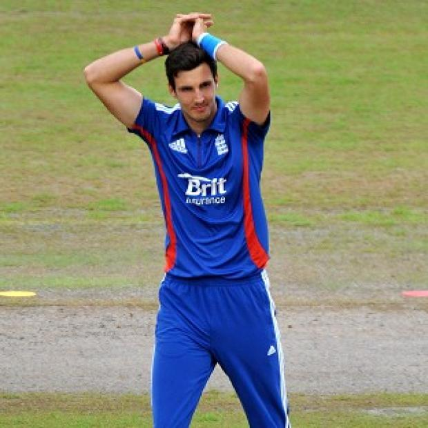 Steven Finn was denied a wicket when he clipped the stumps on Wednesday