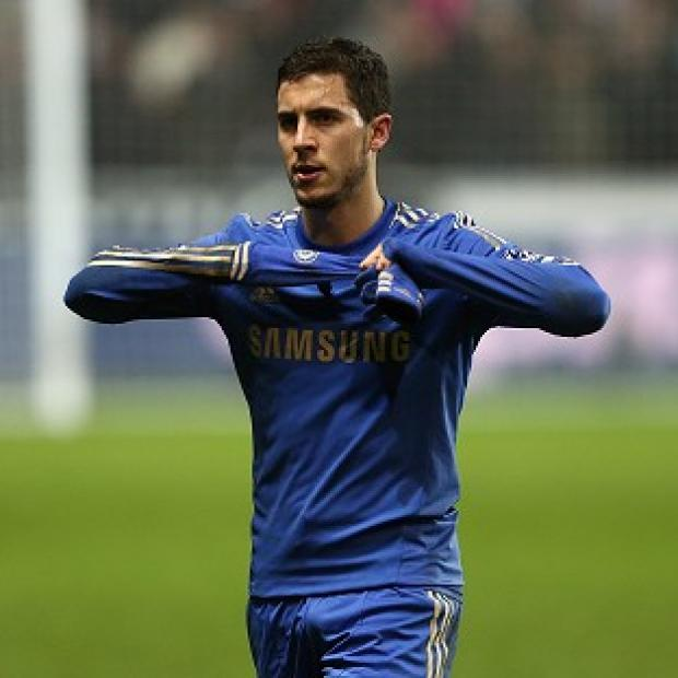 Eden Hazard was sent off after an altercation with a ball boy